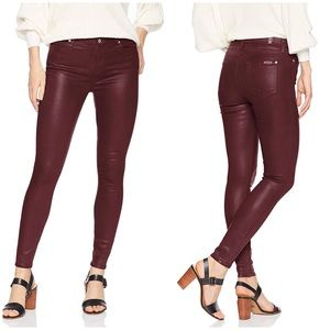 7 for all Mankind Leather Look Stretch Jeans